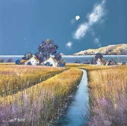 Tidelands by John Mckinstry - Original Painting on Box Canvas sized 16x16 inches. Available from Whitewall Galleries